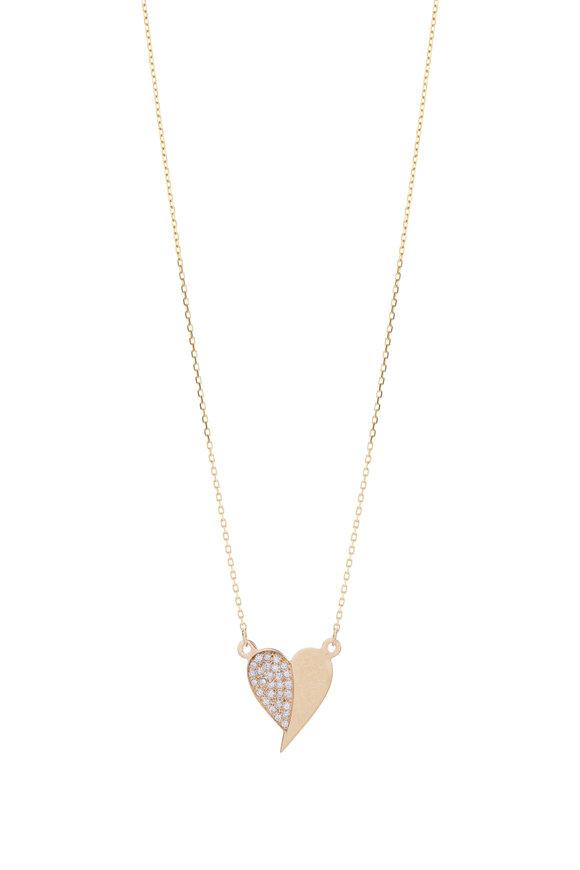 Genevieve Lau 14K Yellow Gold & Diamond Heart Pendant Necklace
