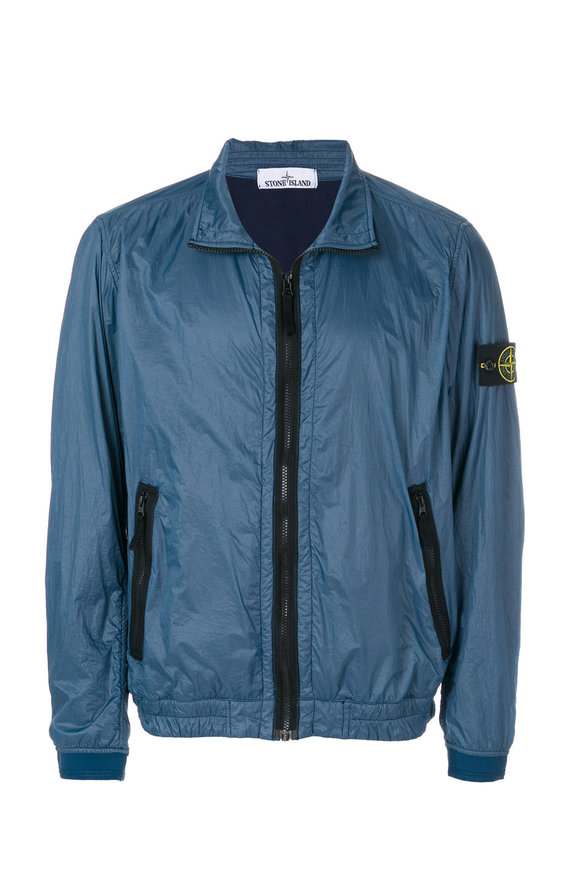 Stone Island Cobalt Nylon Full-Zip Jacket