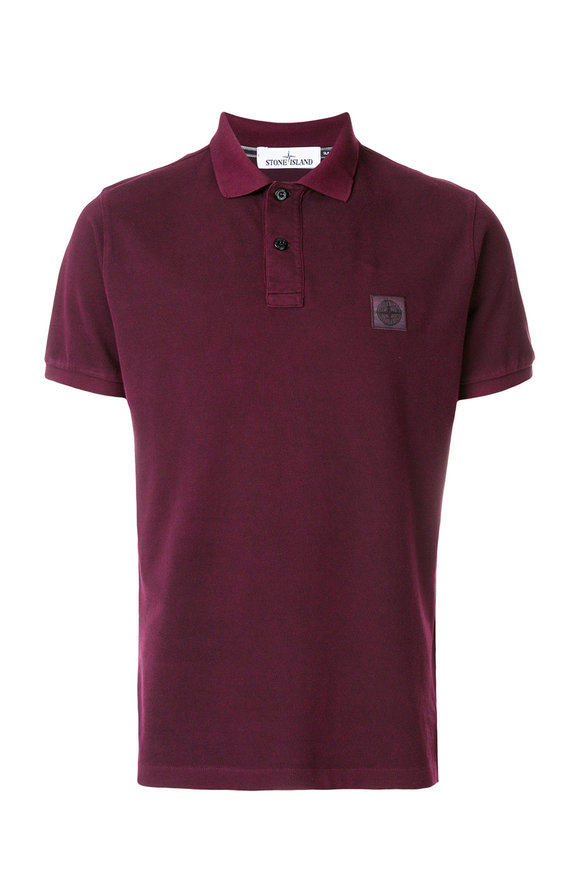Stone Island Dyed Bright Blue Piqué Polo