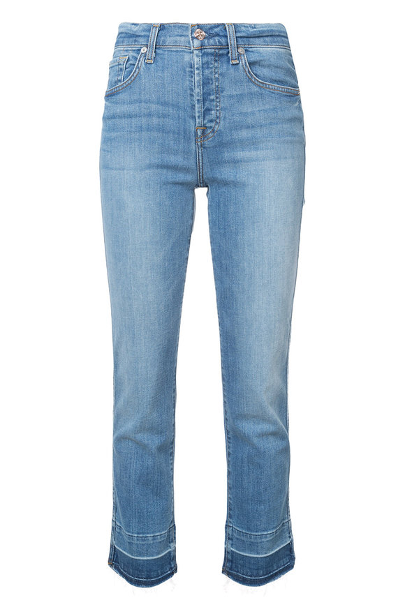 7 For All Mankind Edie Trouser Released Hem Jean