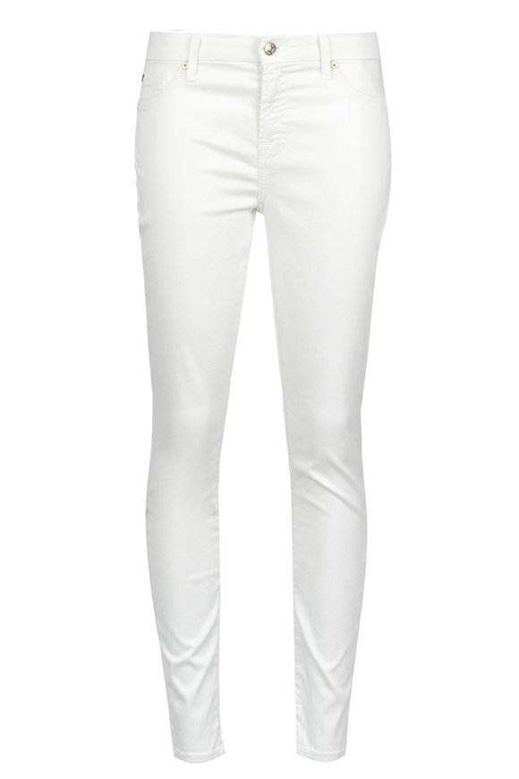 7 For All Mankind (B)Air Pearl Grey Ankle Skinny