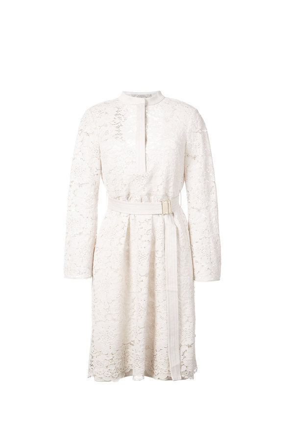 Dorothee Schumacher Ivory Guipure Lace Tempation Long Sleeve Dress