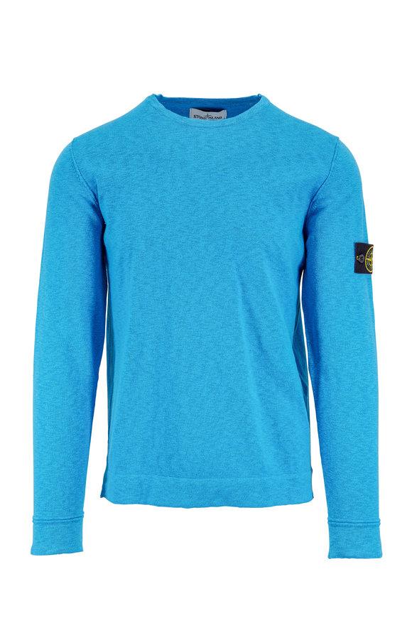 Stone Island Blue Crewneck Sweater