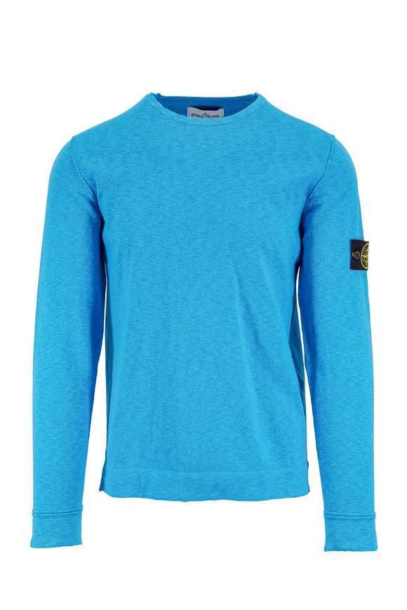 Stone Island Blue Crewneck Sweater