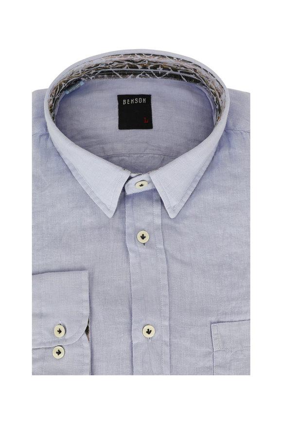 Benson  Violet Linen Sport Shirt