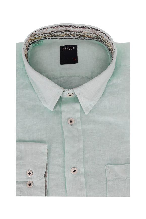 Benson  Mint Linen Sport Shirt