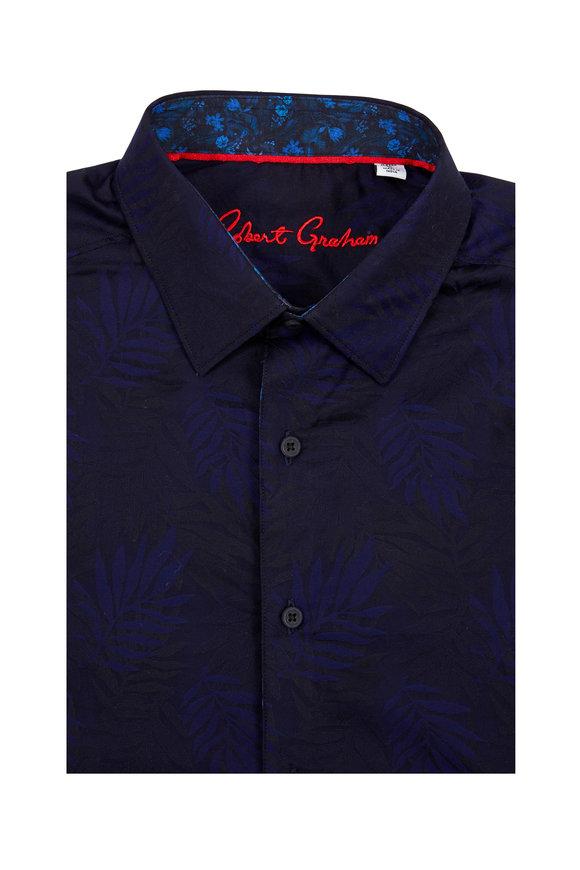 Robert Graham Monte Navy Blue Patterned Classic Sport Shirt