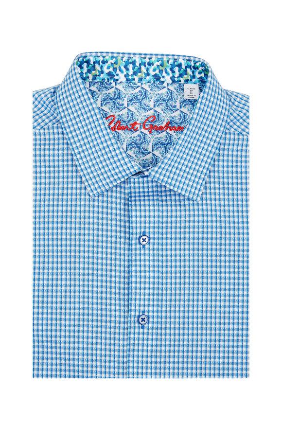 Robert Graham Baron Blue Check Classic Fit Sport Shirt