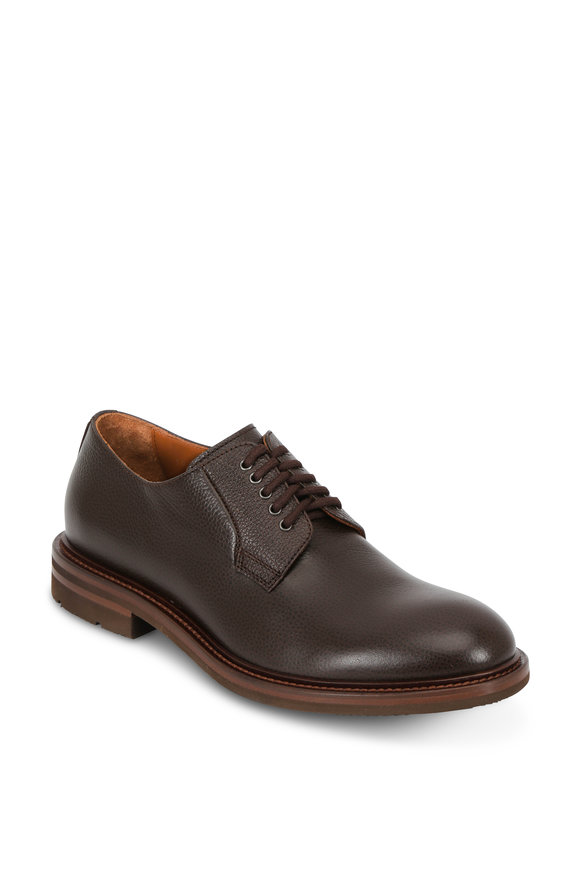 Aquatalia Roberto Brown Leather Weatherproof Oxford