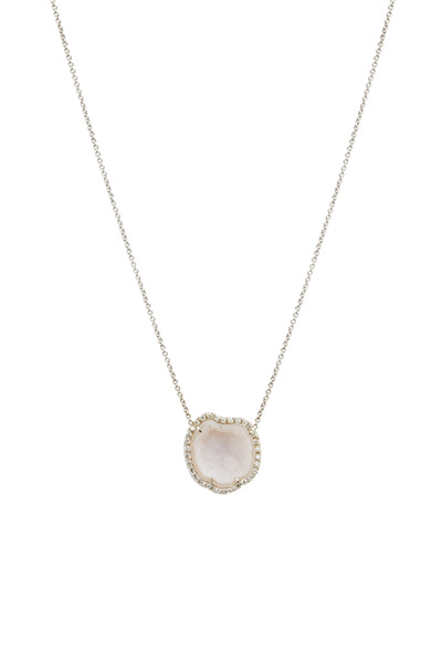 Kimberly McDonald - White Gold Light Geode Diamond Pendant