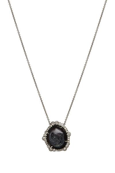 Kimberly McDonald - Dark Geode & Irregular Diamond Pendant