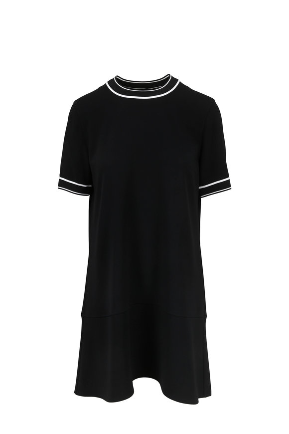 Rag & Bone Thatch Black Crêpe Relaxed Short Sleeve Dress