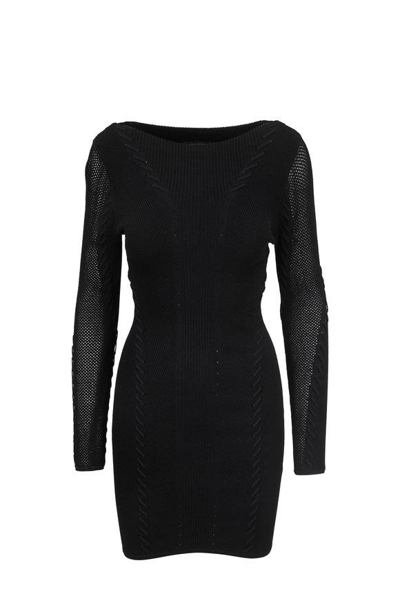Rag & Bone Brandy Black Long Sleeve Mini Dress