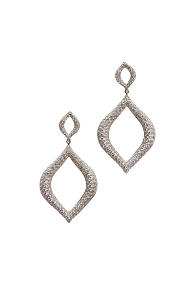Kathleen Dughi - White Gold Pavé-Set Diamond Drop Earrings