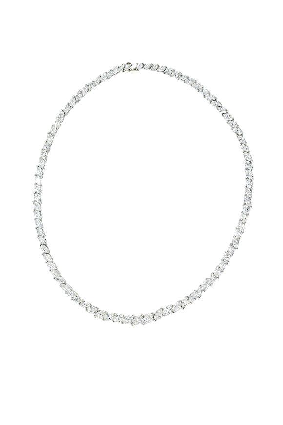Oscar Heyman Platinum Diamond Necklace