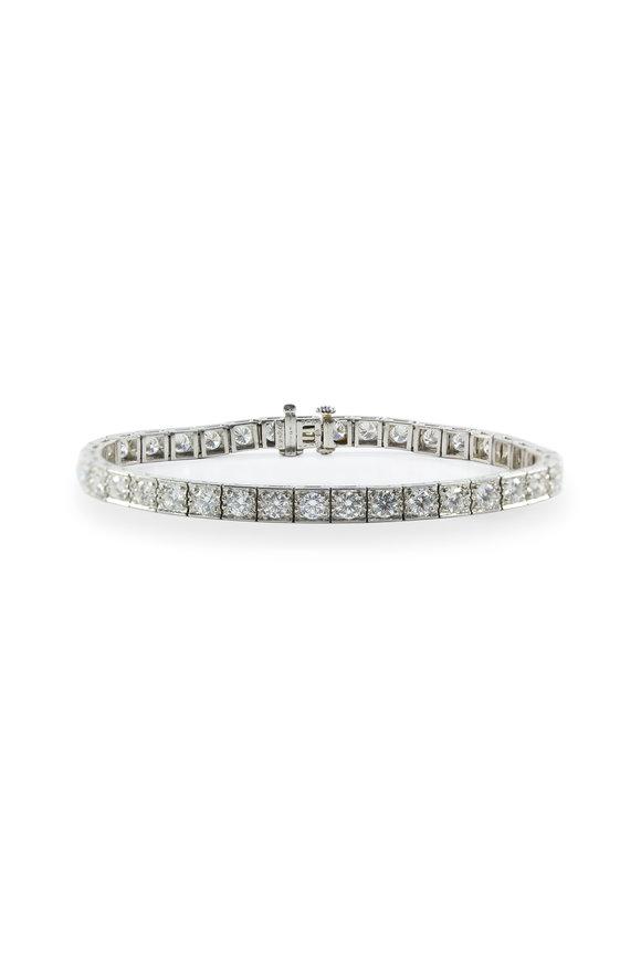 Oscar Heyman Platinum Diamond Block Bracelet
