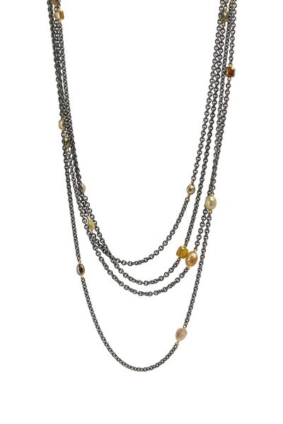 Todd Reed - Gold & Silver Fancy Diamond Necklace
