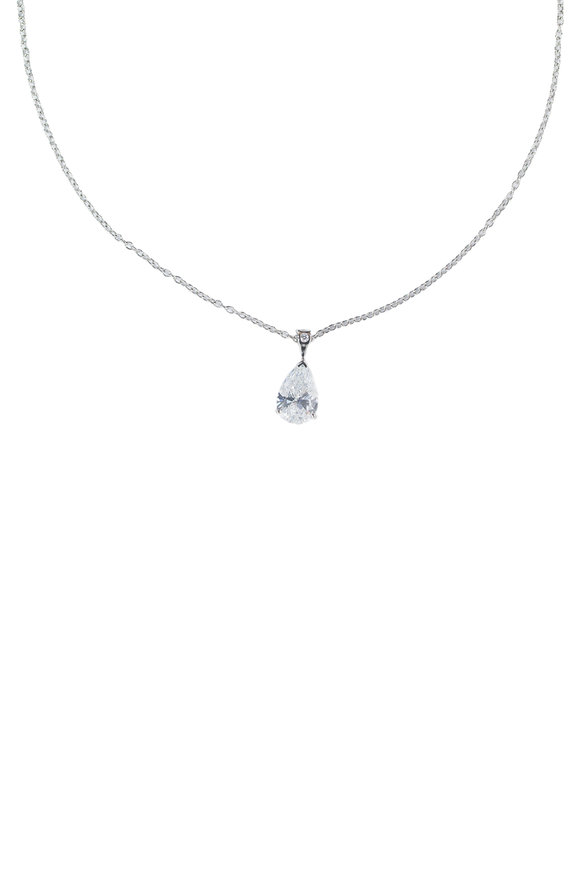 Oscar Heyman Platinum Diamond Pendant Necklace