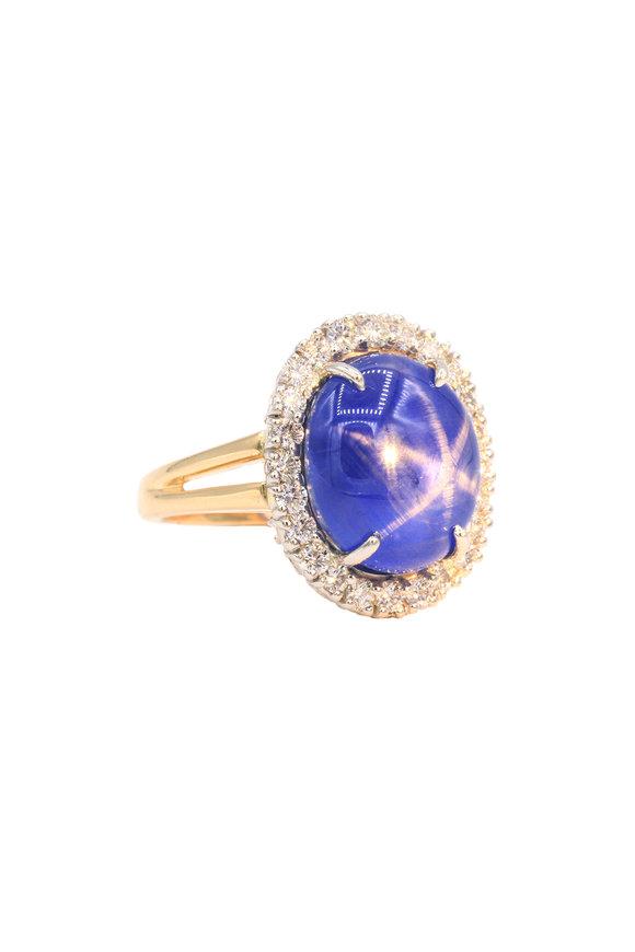 Oscar Heyman Gold & Platinum Star Sapphire Cocktail Ring