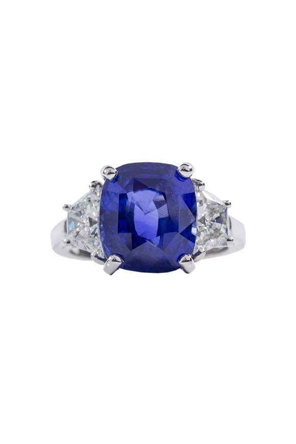Oscar Heyman Platinum Sapphire & Diamond Ring