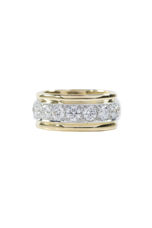 Oscar Heyman Gold & Platinum Diamond Guard Ring
