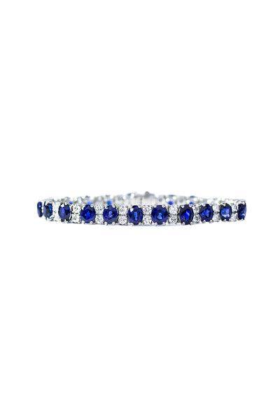 Oscar Heyman - Sapphire & Diamond Bracelet