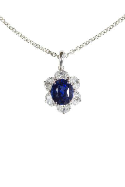 Oscar Heyman - Platinum Sapphire & Diamond Pendant