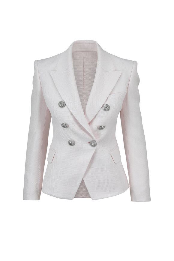 Balmain Pale Rose Double-Breasted Fitted Jacket