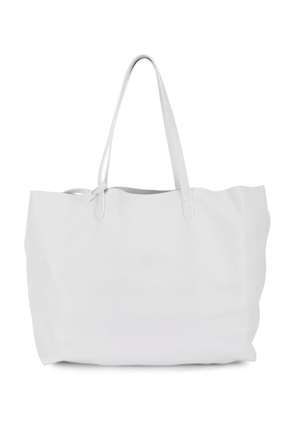 Mansur Gavriel White Leather Over-Sized Soft Tote