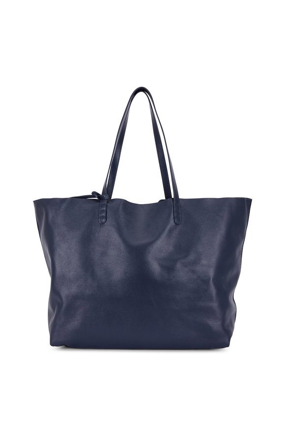 Mansur Gavriel Navy Blue Leather Over-Sized Soft Tote