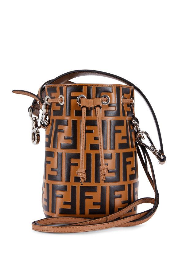 Fendi Mon Tresor Tobacco Logo Mini Bucket Bag