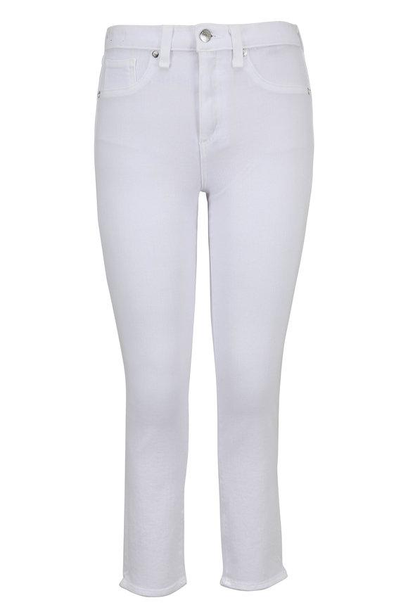 Veronica Beard Kate White Crop Skinny Jean