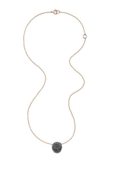 Nam Cho - Black Diamond Half Ball Pendant Necklace