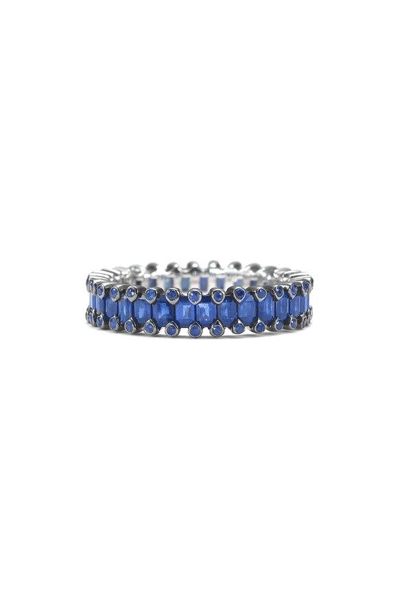 Nam Cho 18K White Gold Sapphire Baguette Ring