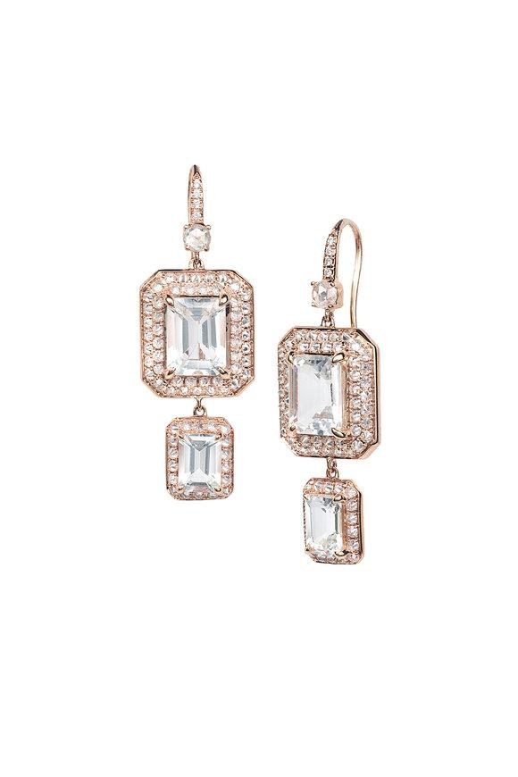 Nam Cho 18K Pink Gold Spike Drop Earrings