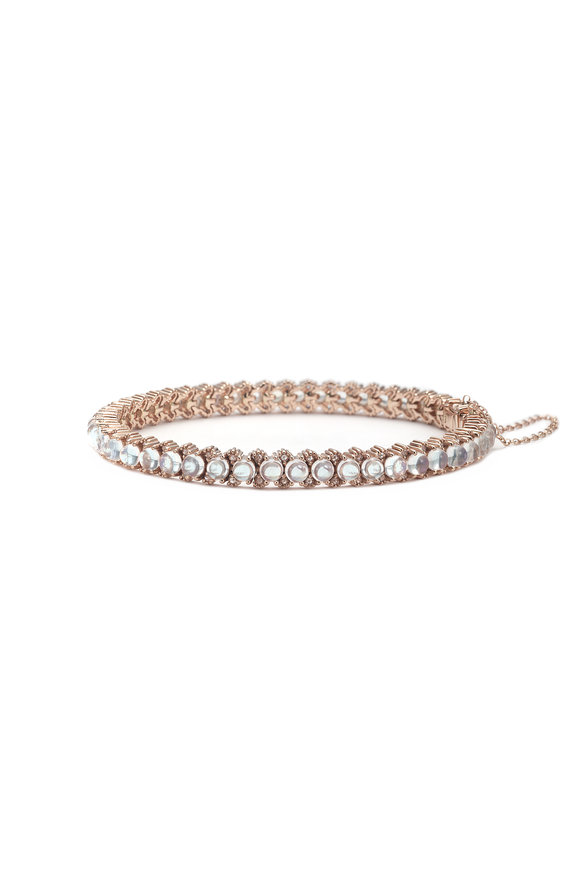 Nam Cho 18K Pink Gold Blue Moonstone Bracelet