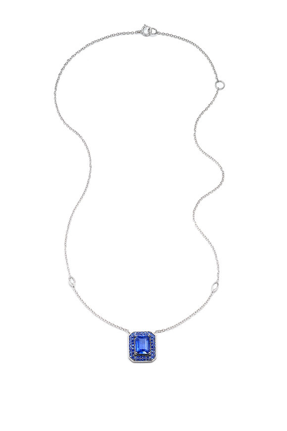 Nam Cho 18K White Gold Blue Sapphire & Kyanite Necklace