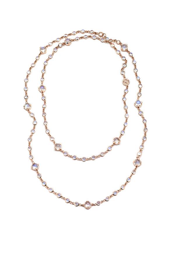 Nam Cho 18K Pink Gold Blue Moonstone & Diamond Necklace