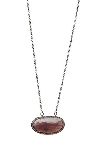 Loren Jewels - Sterling Silver Sapphire Diamond Pendant