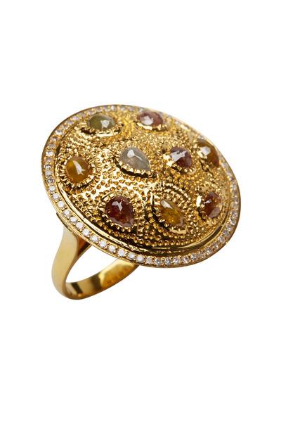 Loren Jewels - Yellow Gold Multi Diamond Cocktail Ring
