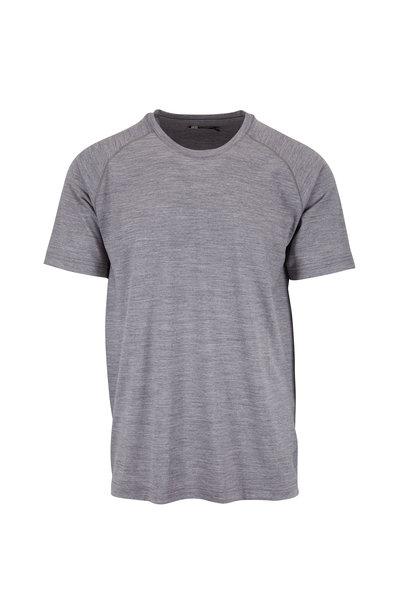 Z Zegna - Gray Techmerino Performance T-Shirt