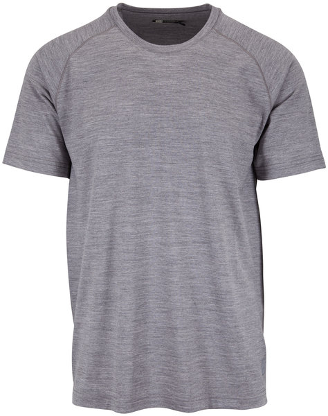 Z Zegna Gray Techmerino Performance T-Shirt