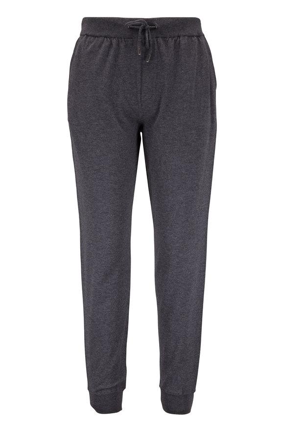 Ermenegildo Zegna Gray Wool & Cotton Jogger Pant