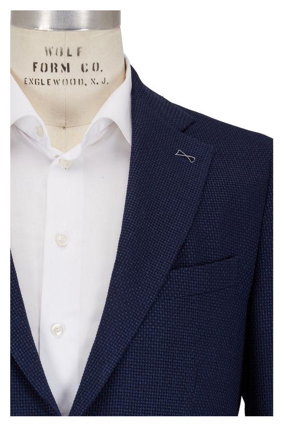 Atelier Munro Navy Wool Textured Sportcoat