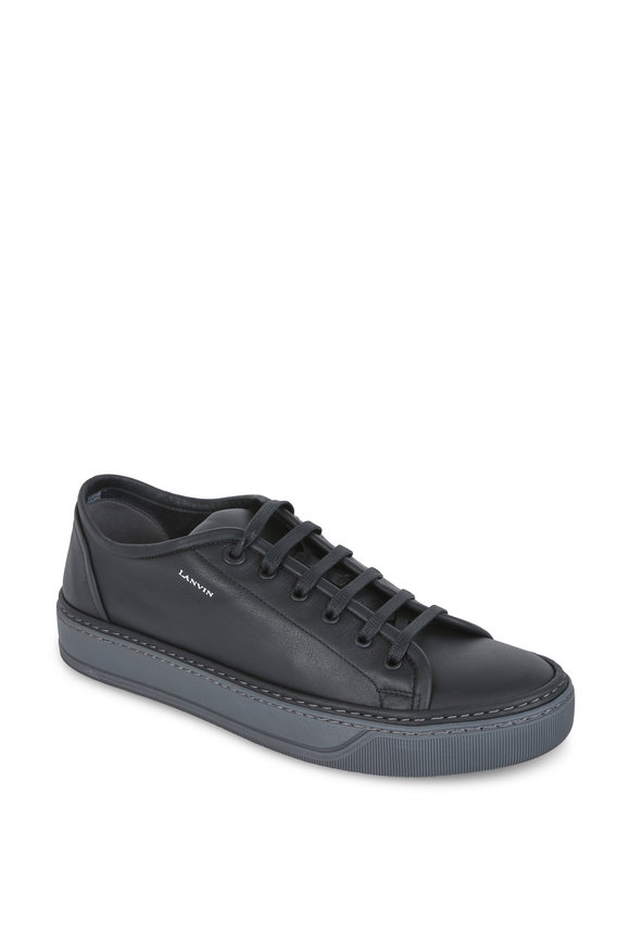 Lanvin Black Leather Low-Top Sneaker