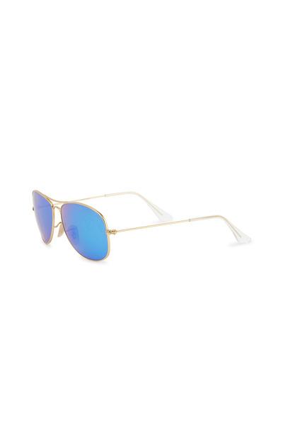 Ray Ban - Aviator Cockpit Gold Blue Mirror Sunglasses
