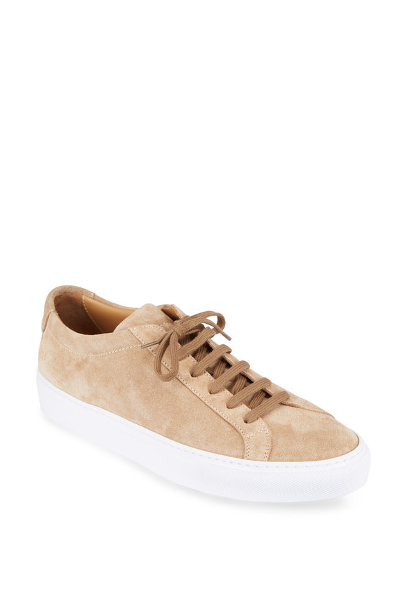 Common Projects Tan Suede Low-Top Sneaker