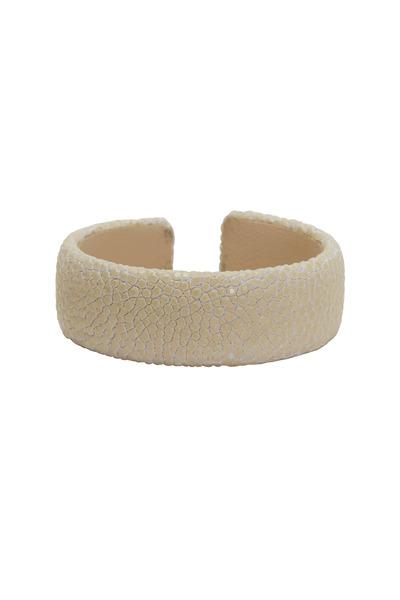Kathleen Dughi - Raya Snow Stingray Cuff Bracelet