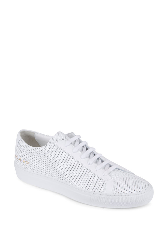 Common Projects White Leather Perforated Sneaker