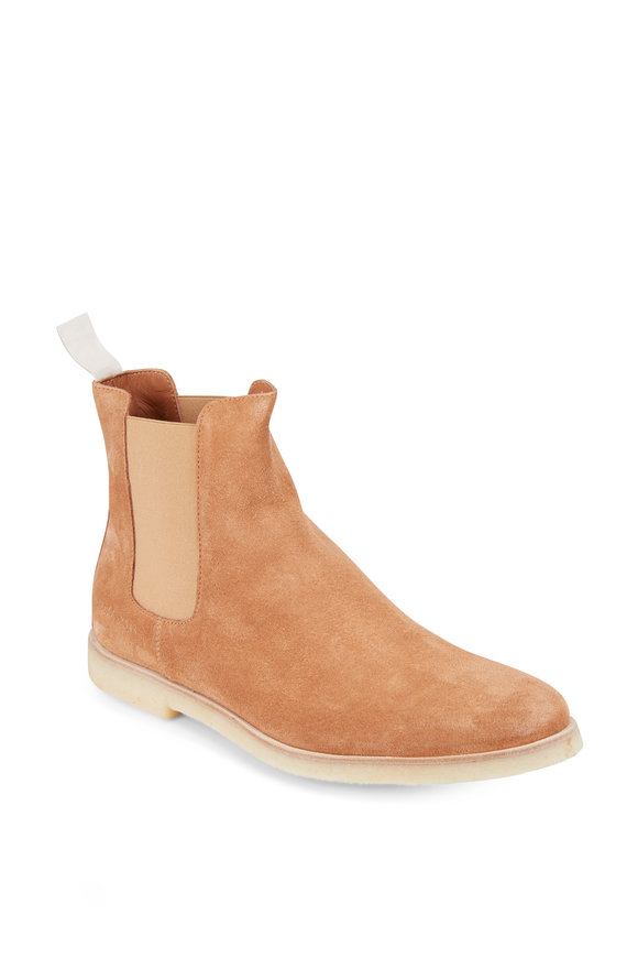 Common Projects Tobacco Suede Chelsea Boot